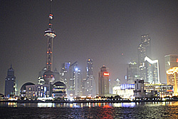 Pudong seen from the Bund - Copyright (C) 2008 Yves Roumazeilles