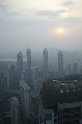 Shanghai early sun - Copyright (C) 2008 Yves Roumazeilles