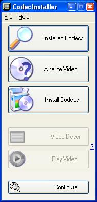 CodecInstaller main window