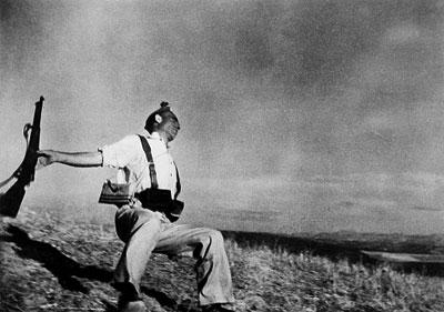 Loyalist Militiaman at the Moment of Death, Cerro Muriano (Robert Capa, September 5, 1936)