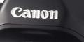 Canon logo on camera