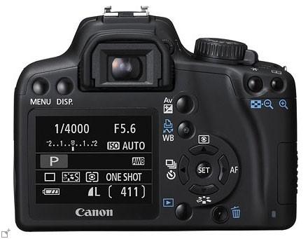 Canon EOS 1000D / Canon Rebel XS - Back