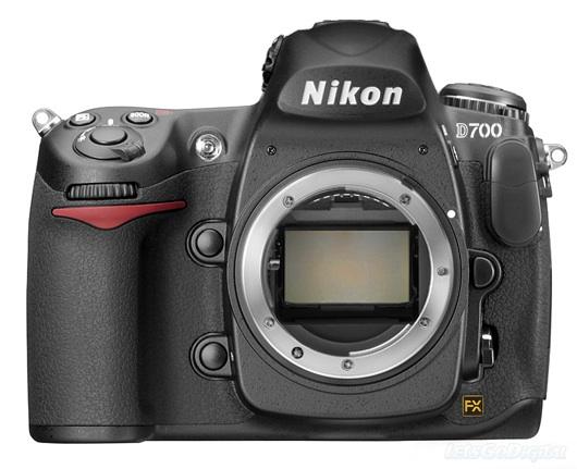 Nikon D700 body, front view