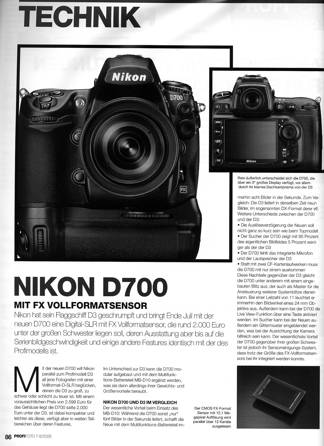 NIKON D700 PRICE WATCH