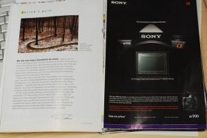 Sony Alpha 900 - Publicité en magazine