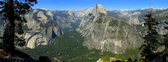 Yosemite park - Cliquer pour accéder au zoom dans 17-Giga-Pixel