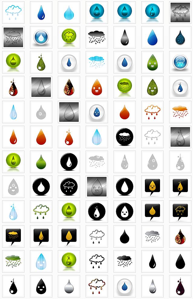 Rain drops (on Icons Etc.)