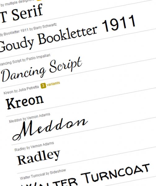 Google webfonts web fonts