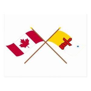Canada + Nunavut flags