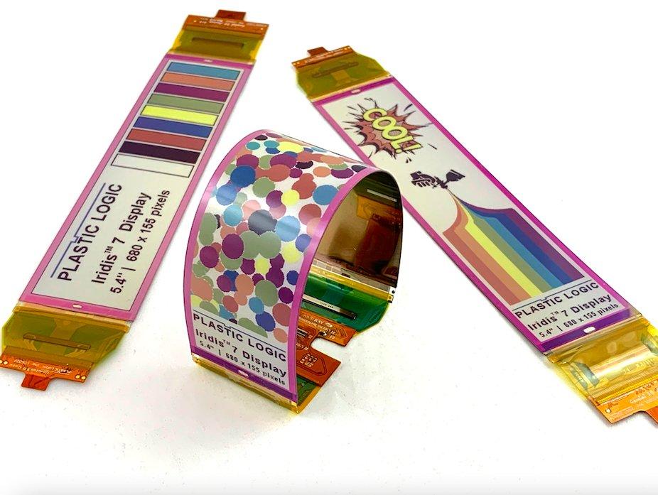 Flexible color e-paper displays