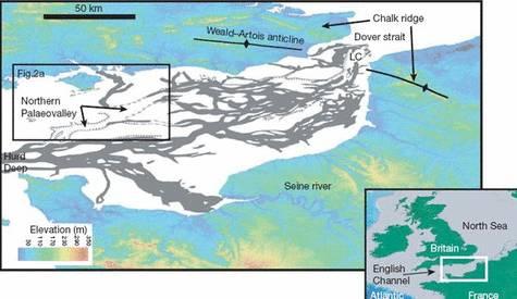 Carte de la Manche - Map of the Channel