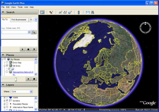 Google Earth - screen shot
