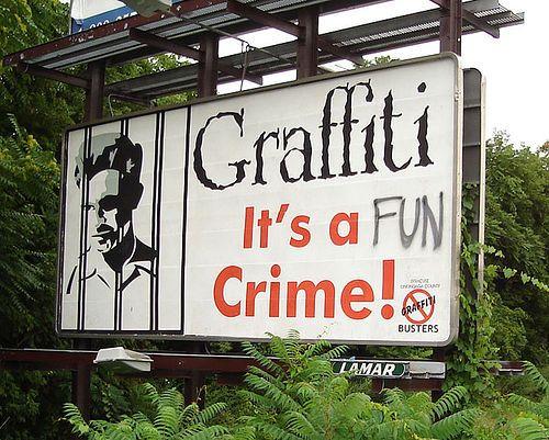 Graffiti, it's a fun crime