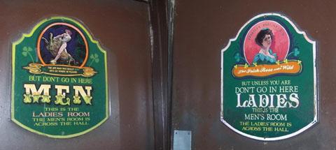 WC, toilets, washroom - Misleading sign