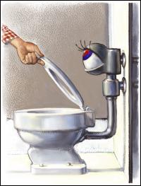 Toilet flush at Microsoft