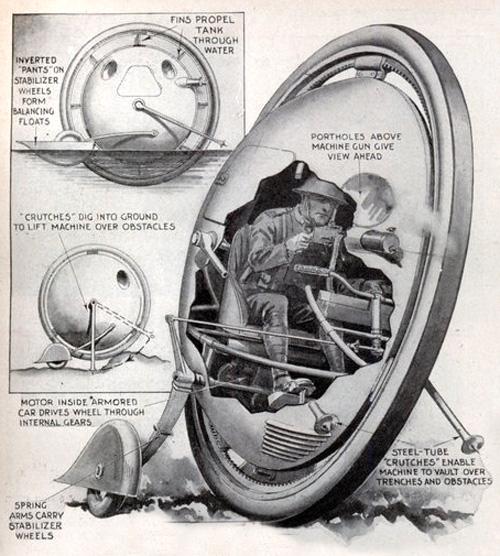 1-wheel tank (blog.modernmechanix.com)