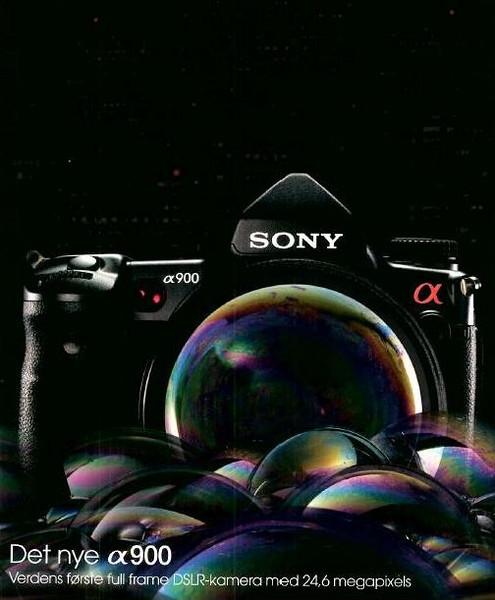 Sony Alpha 900 – nom confirmé par une pub