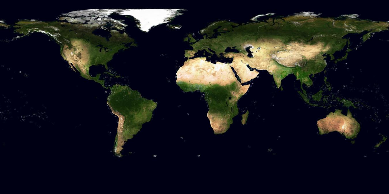 La Terre vue du ciel, en grand
