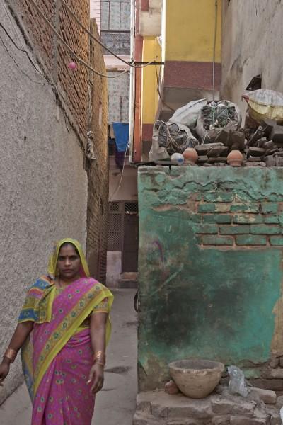 Ruelle à New Delhi
