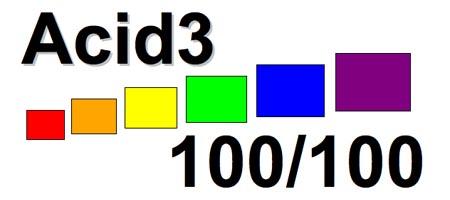 Test Acid3 : score de 100% pour Safari et Opera