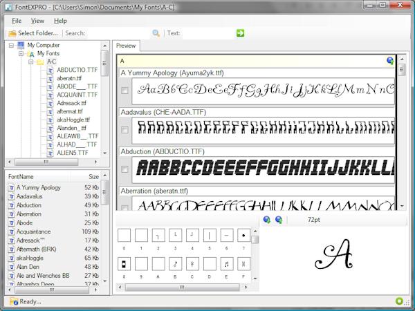 FontEXPRO pour explorer vos polices Windows