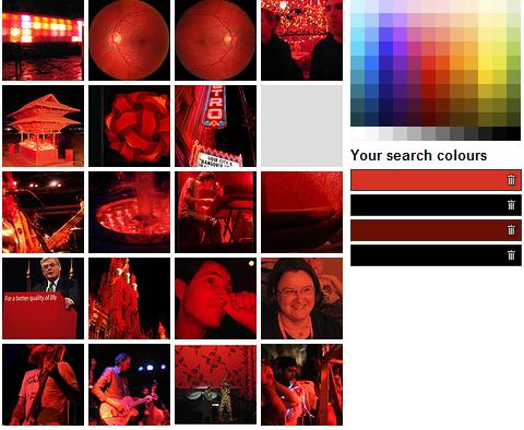 Recherche d'image multicolore
