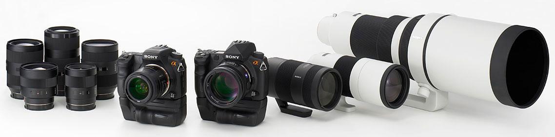 Sony : photo officielle des nouveaux appareils et objectifs