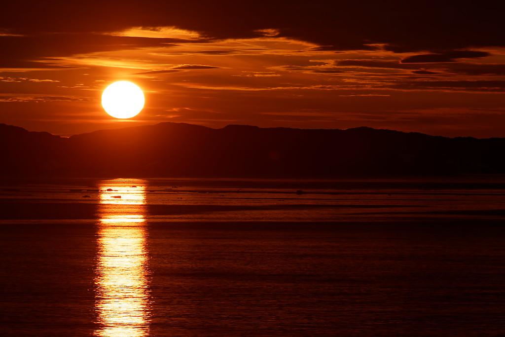 Coucher de soleil à Iqaluit