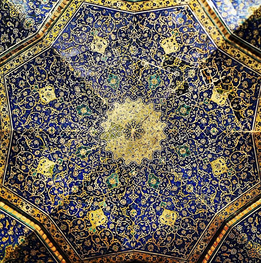 Plafonds de mosquées iraniennes