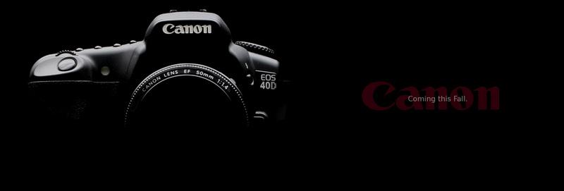 Canon 40D promo material