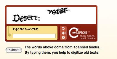 reCAPTCHA - example/exemple
