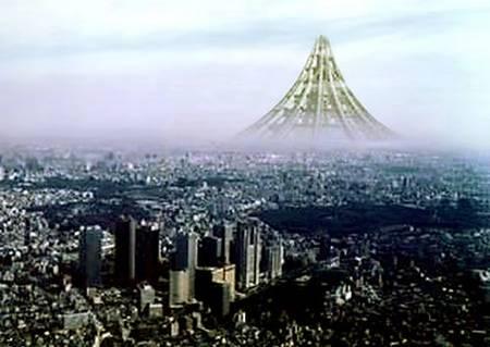 Une tour que la société nipponne Taisei Construction Corporation (TCC) projette de construire dans la baie de Tokyo